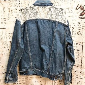 Levi Strauss Vintage Lace Back Denim Jacket